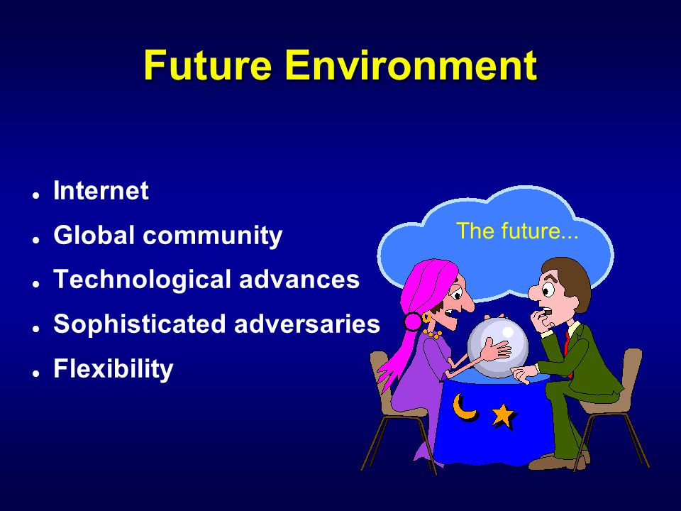 Future Environment Internet Global community Technological advances