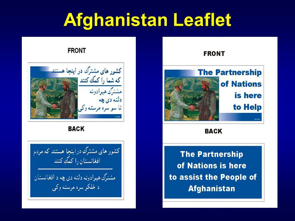 Afghanistan Leaflet IW 110 PSYOP Notetaker