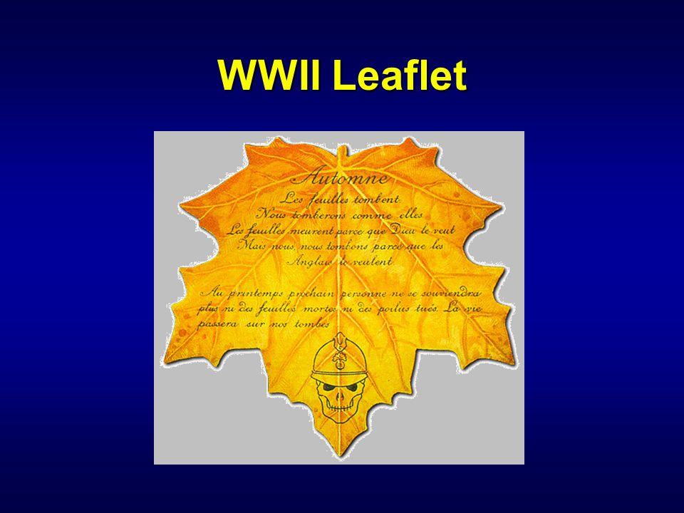 IW 110 PSYOP Notetaker WWII Leaflet.