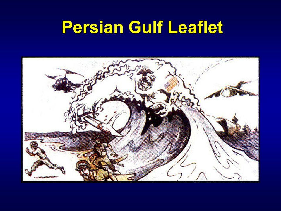 IW 110 PSYOP Notetaker Persian Gulf Leaflet.