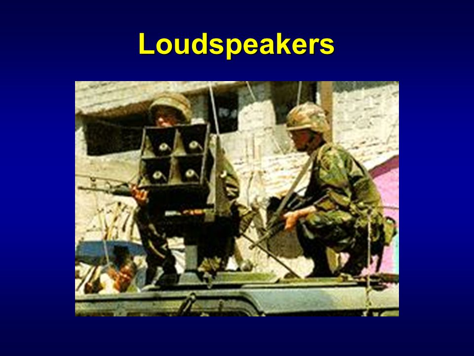 IW 110 PSYOP Notetaker Loudspeakers.