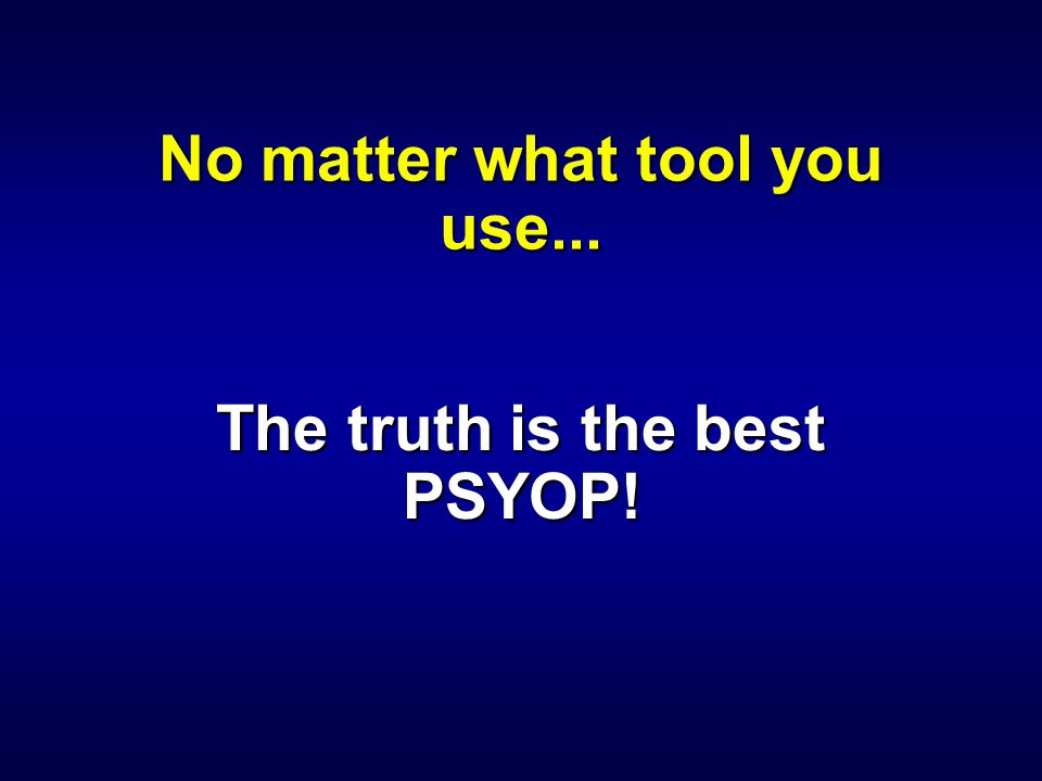 No matter what tool you use...