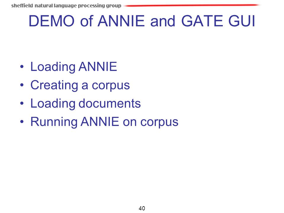 DEMO of ANNIE and GATE GUI