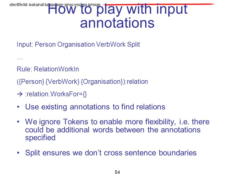 How to play with input annotations