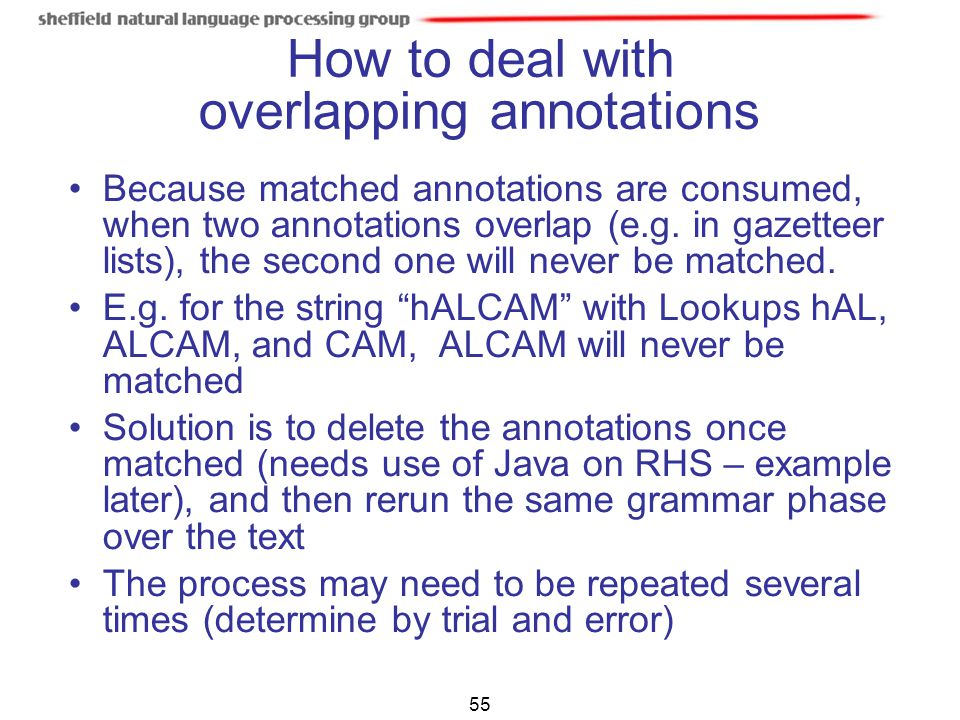 How to deal with overlapping annotations