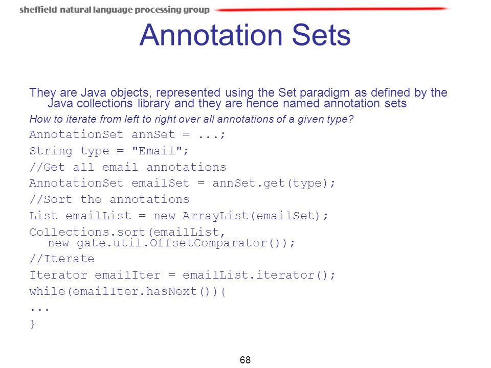 Annotation Sets