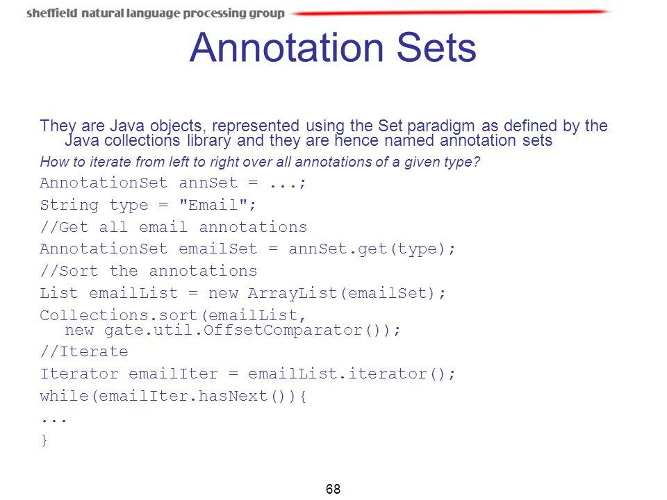 Annotation Sets