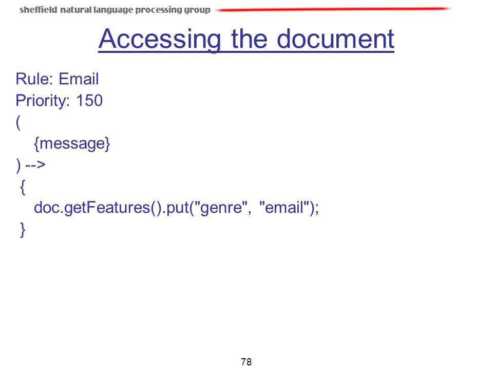 Accessing the document