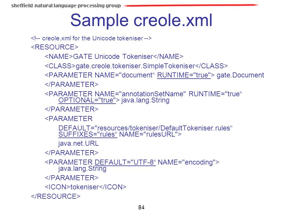 Sample creole.xml <RESOURCE>