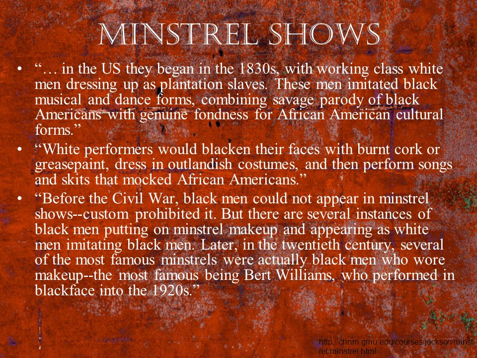 Minstrel Shows