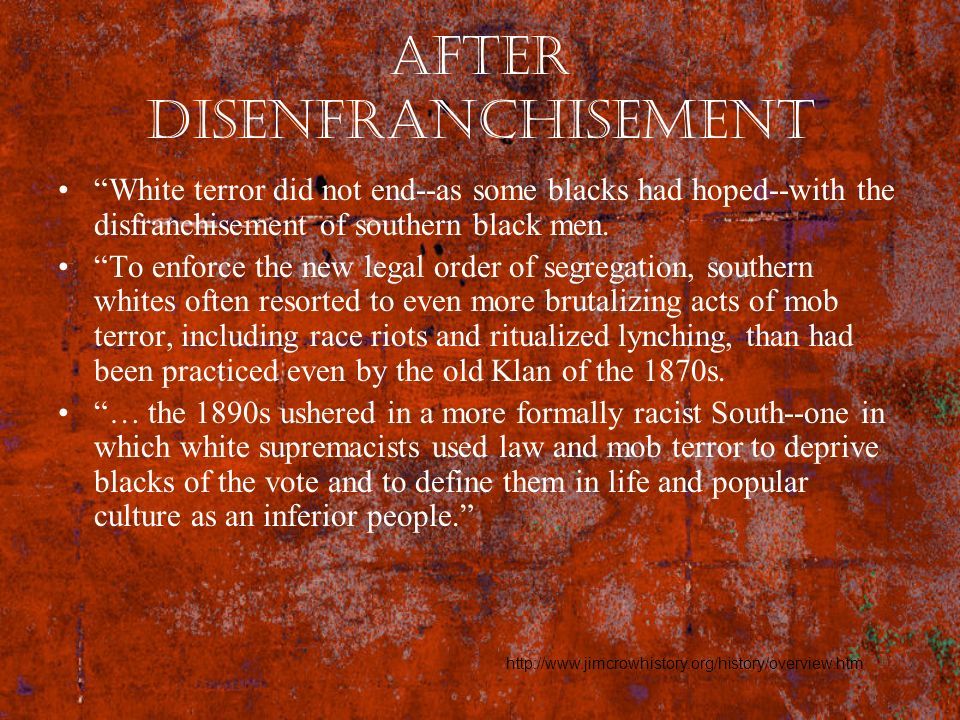 After Disenfranchisement