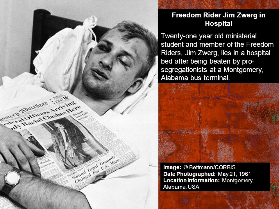 Freedom Rider Jim Zwerg in Hospital