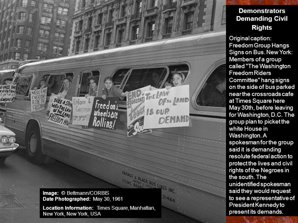 Demonstrators Demanding Civil Rights