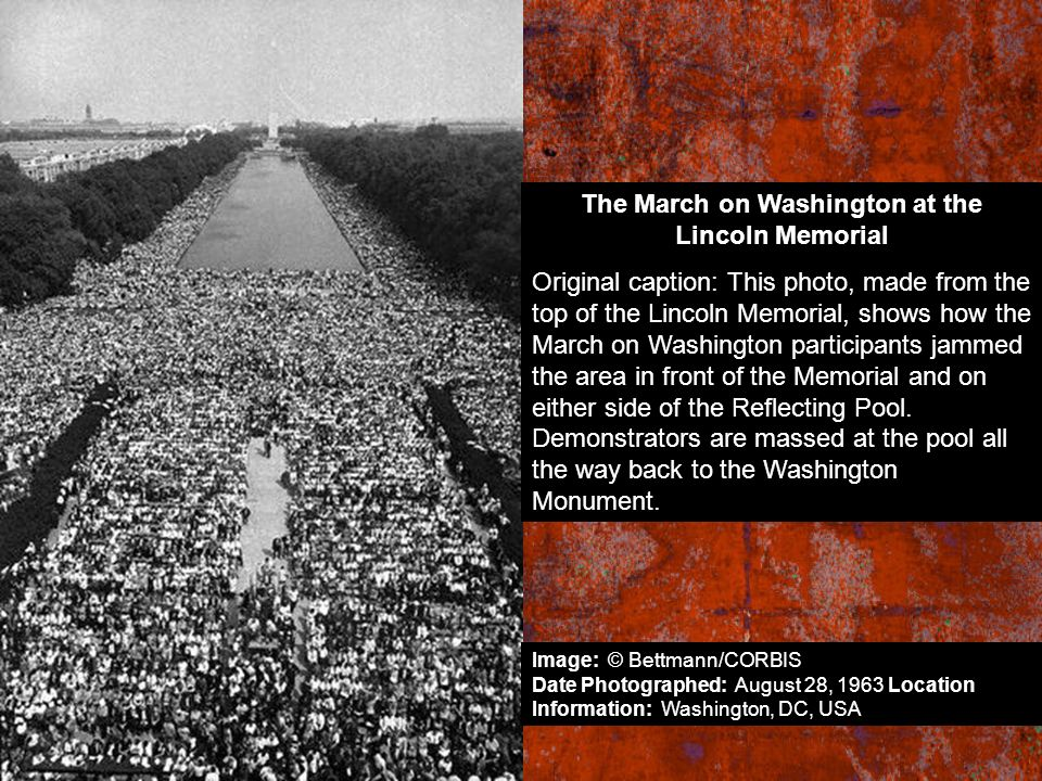 The March on Washington at the Lincoln Memorial