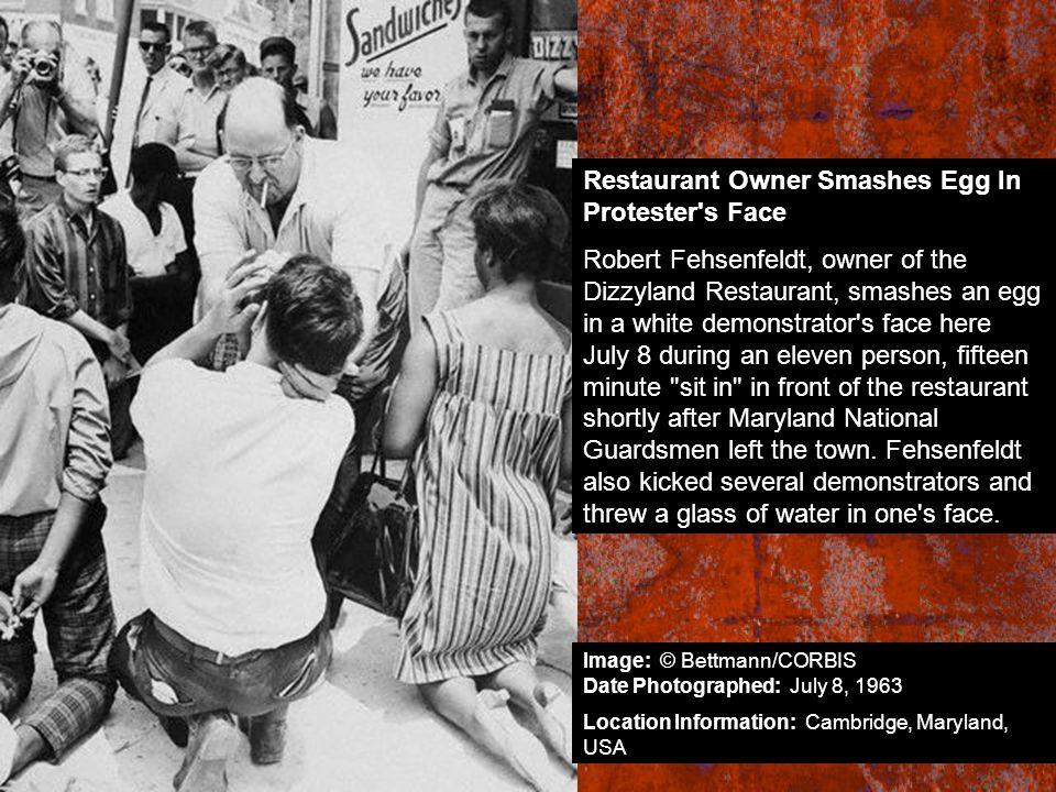 Restaurant Owner Smashes Egg In Protester s Face