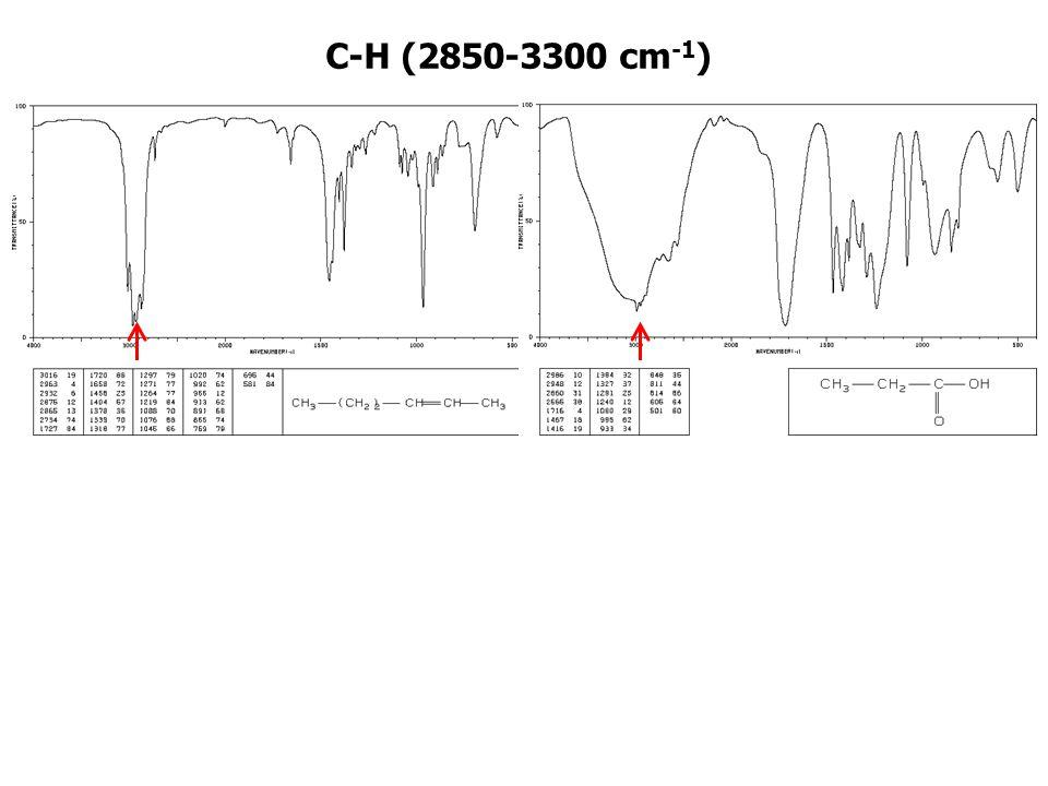 C-H (2850-3300 cm-1)