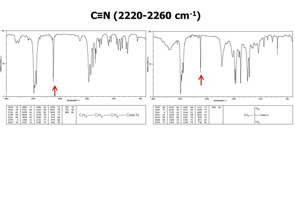 C≡N (2220-2260 cm-1)