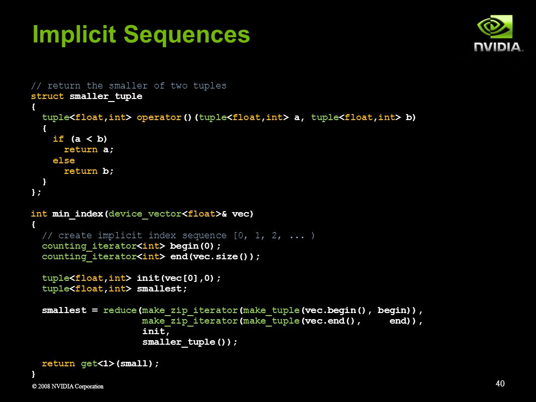 Implicit Sequences // return the smaller of two tuples