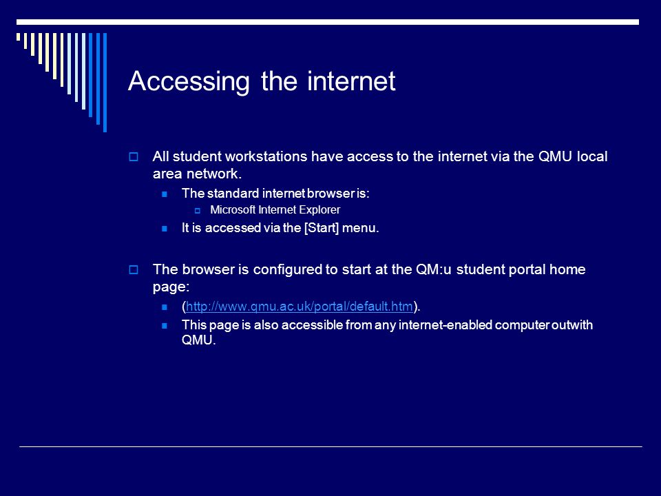 Accessing the internet
