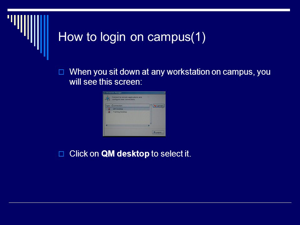 How to login on campus(1)