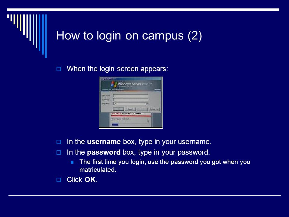 How to login on campus (2)