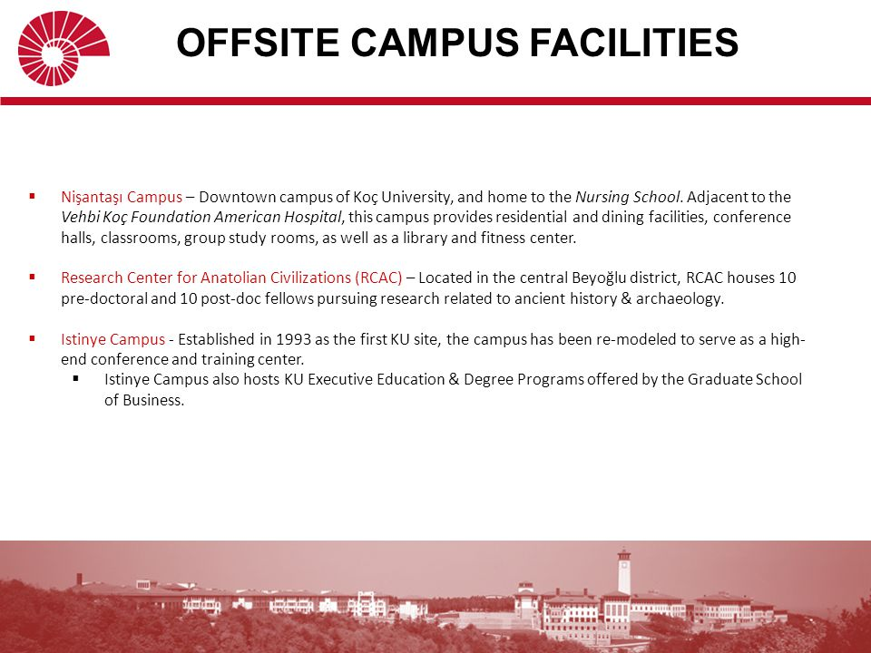 OFFSITE CAMPUS FACILITIES