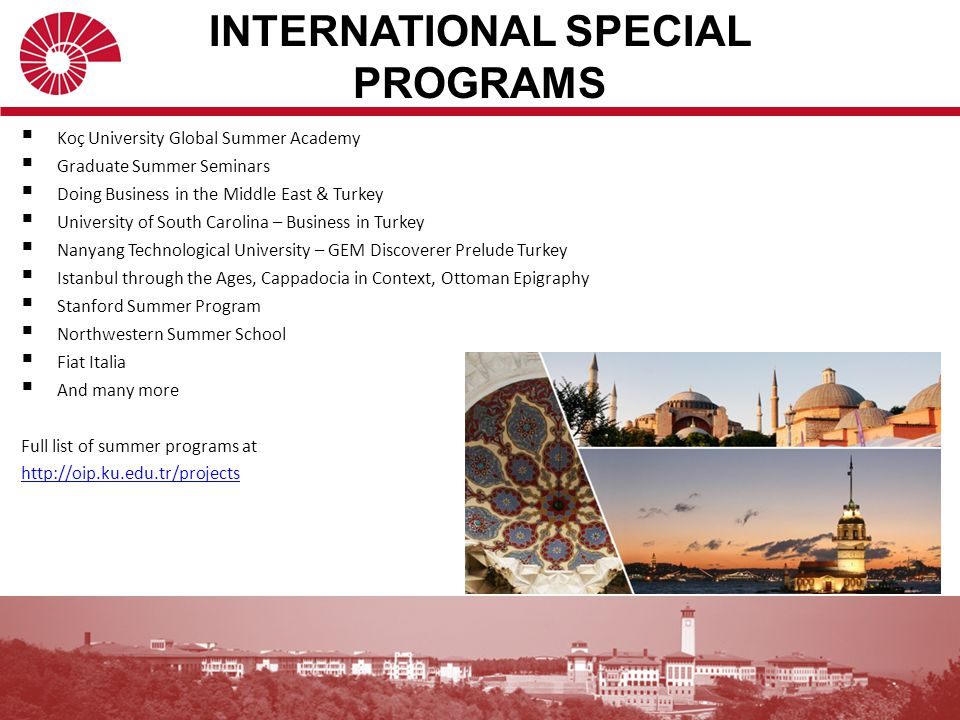 INTERNATIONAL SPECIAL PROGRAMS