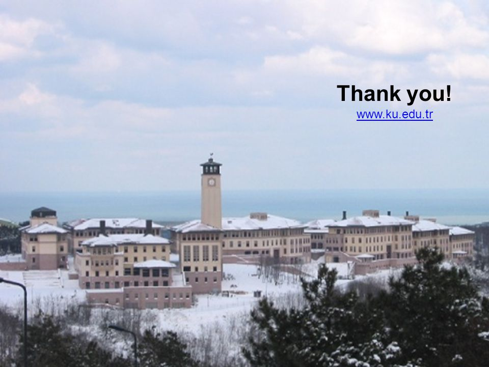 Thank you! www.ku.edu.tr For Additional Information