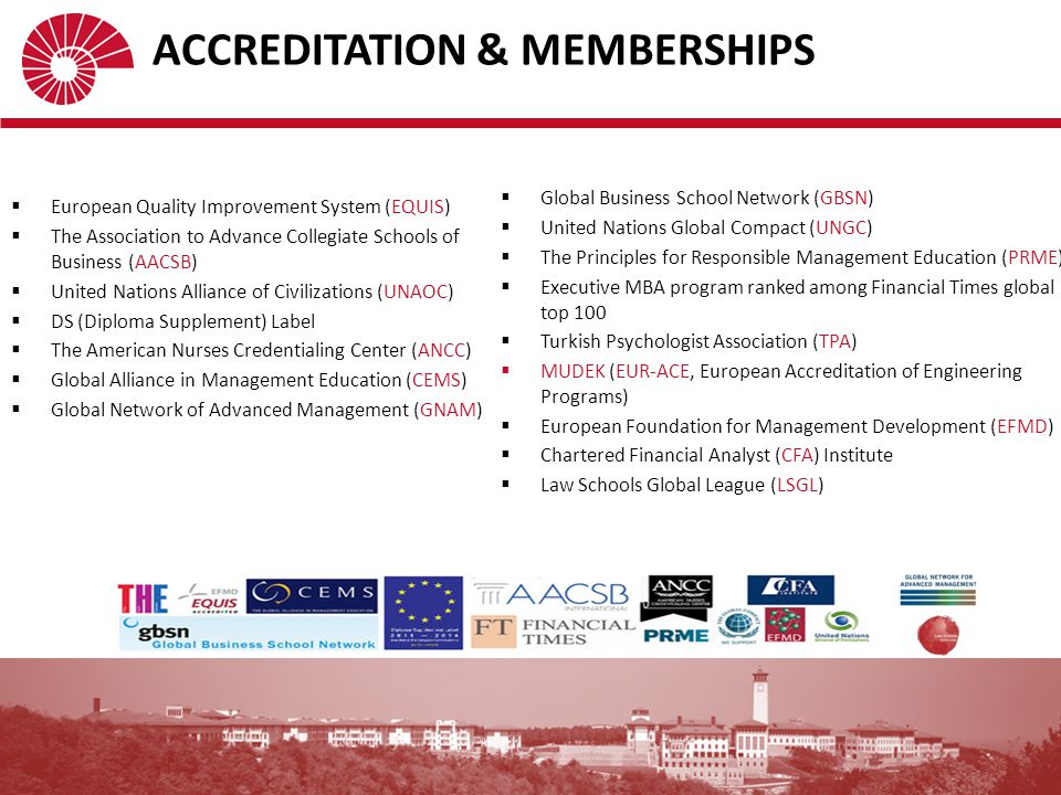 ACCREDITATION & MEMBERSHIPS