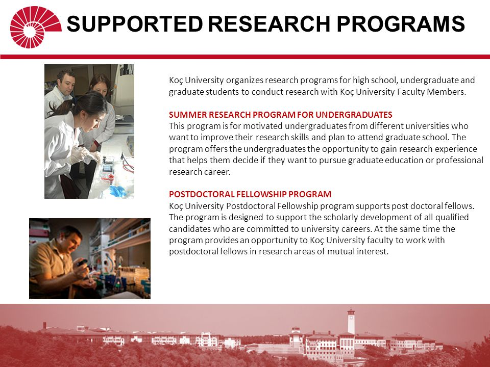 SUPPORTED RESEARCH PROGRAMS