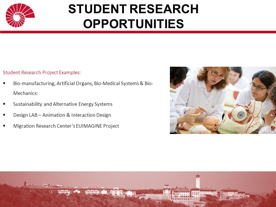 STUDENT RESEARCH OPPORTUNITIES