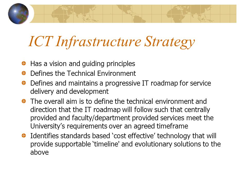 ICT Infrastructure Strategy