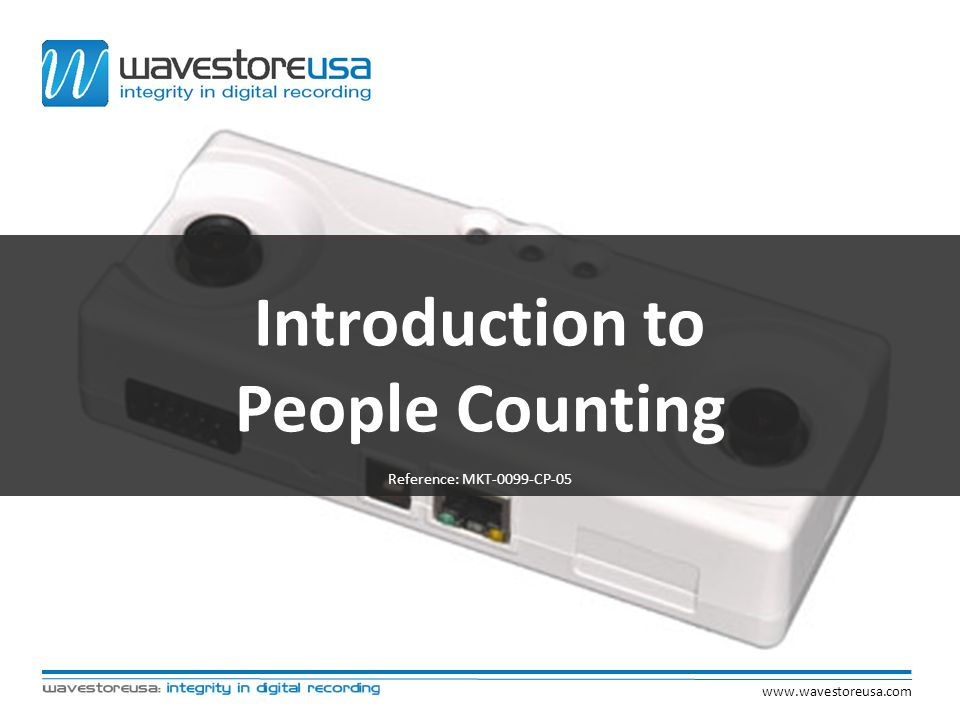Introduction to People Counting