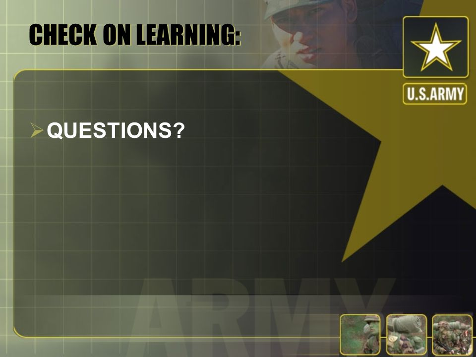 CHECK ON LEARNING: QUESTIONS
