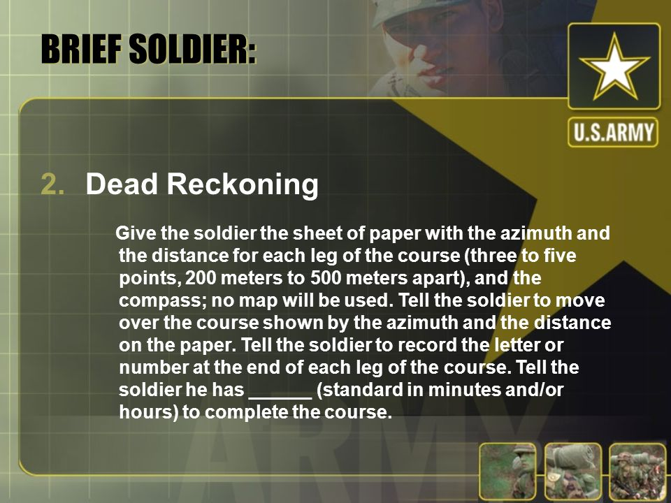 BRIEF SOLDIER: Dead Reckoning