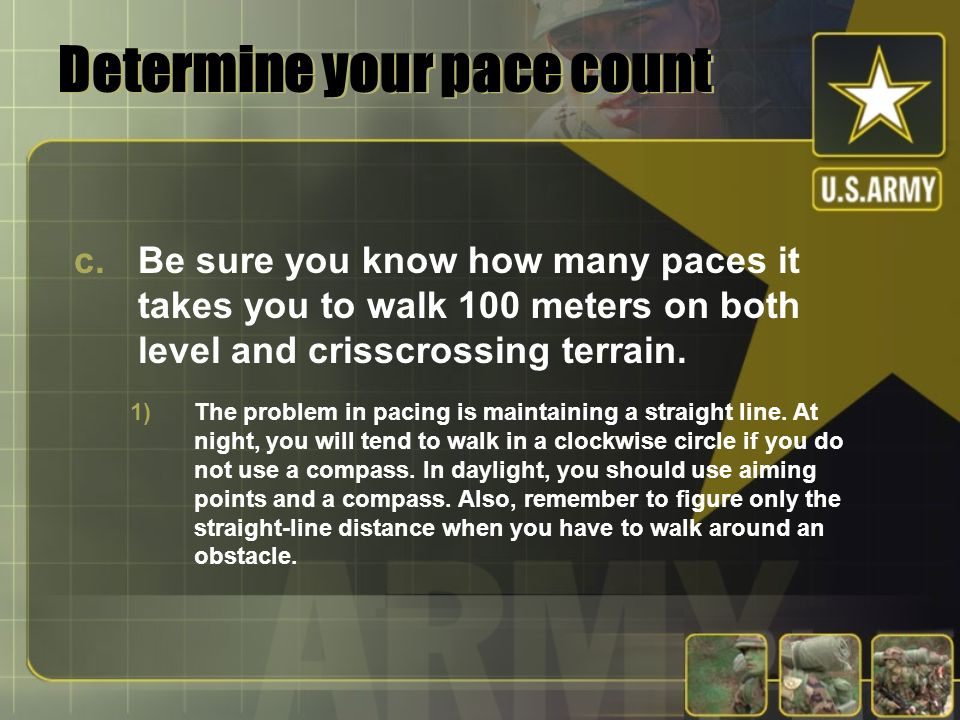 Determine your pace count