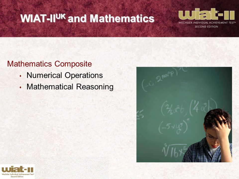 WIAT-IIUK and Mathematics