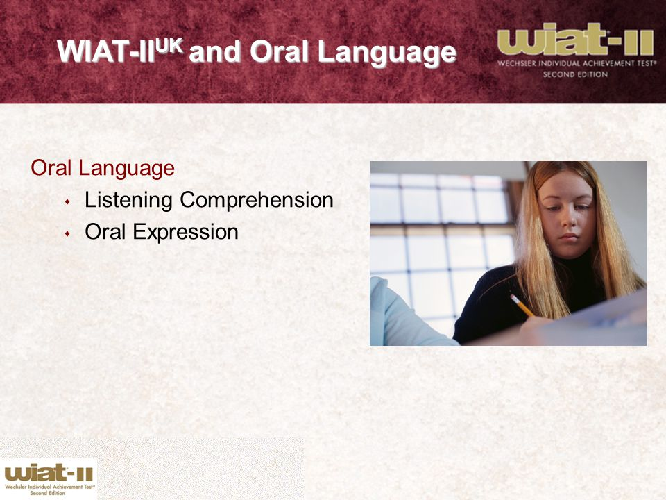 WIAT-IIUK and Oral Language