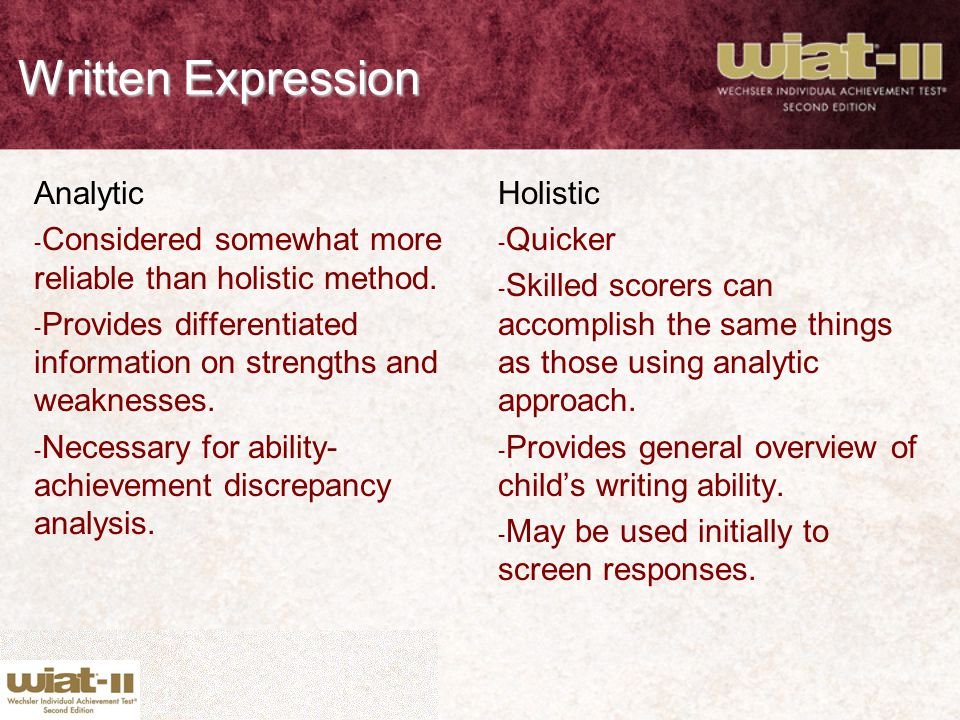 Written Expression Analytic