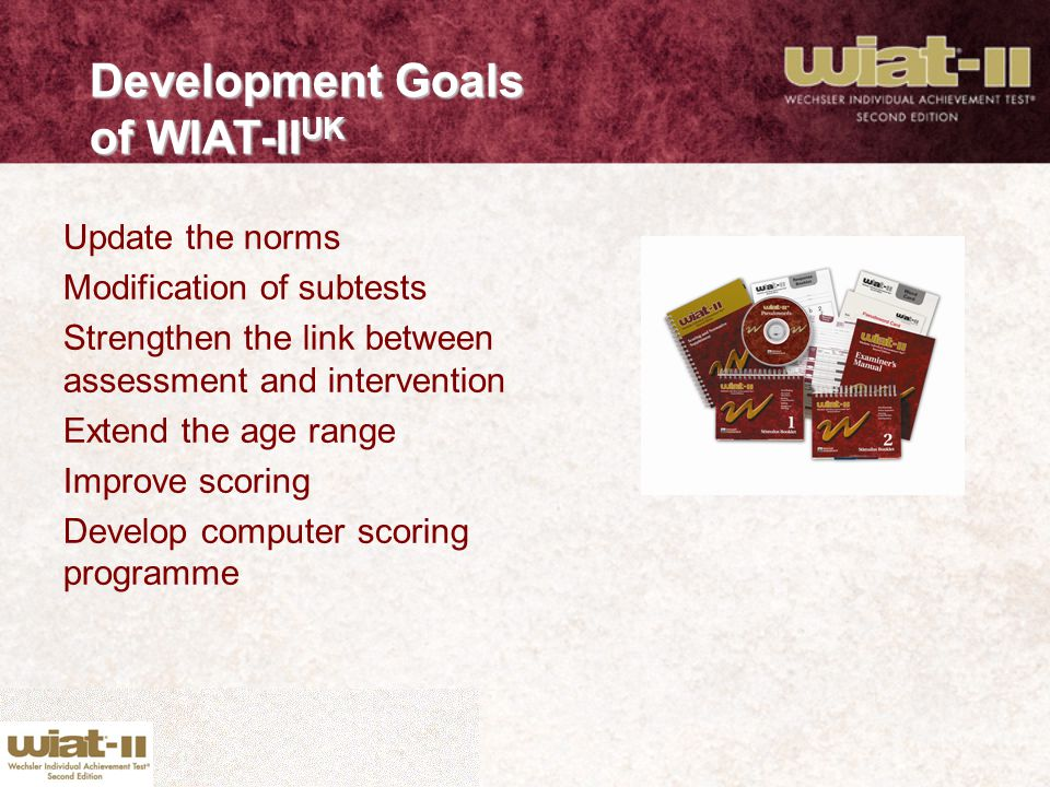 Development Goals of WIAT-IIUK