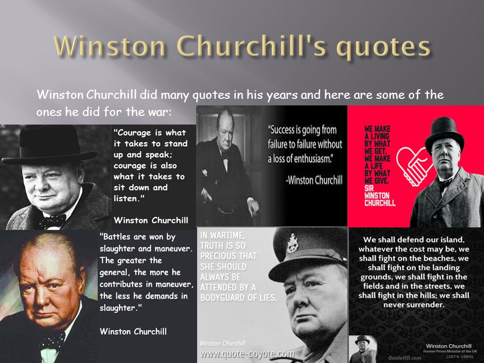 Winston Churchill s quotes