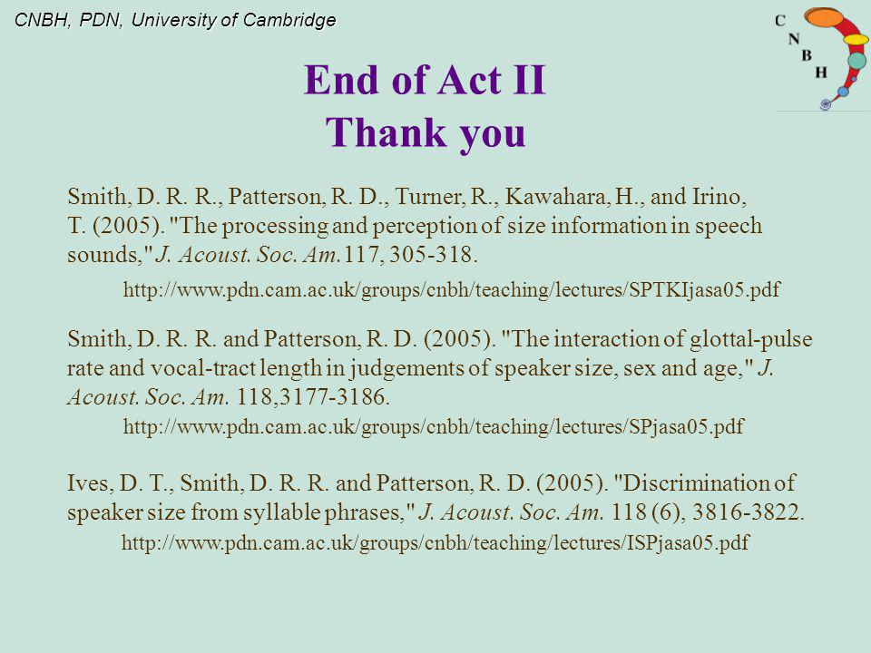 End of Act II Thank you.