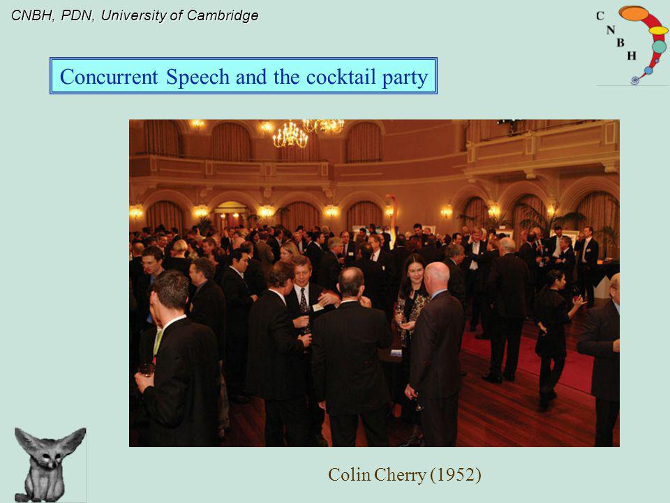 Concurrent Speech and the cocktail party