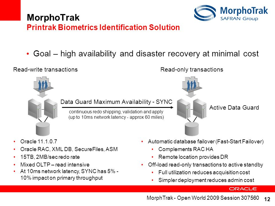 MorphoTrak Printrak Biometrics Identification Solution