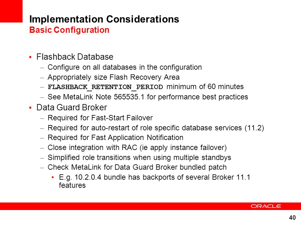 Implementation Considerations Basic Configuration