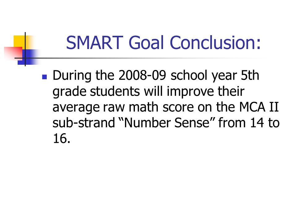 SMART Goal Conclusion: