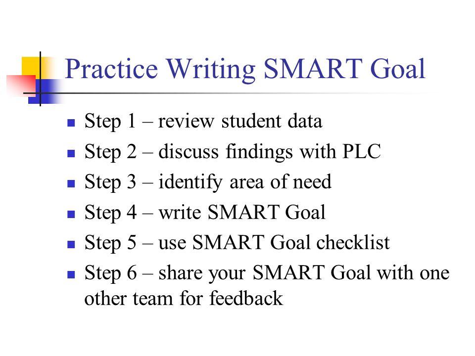 Practice Writing SMART Goal