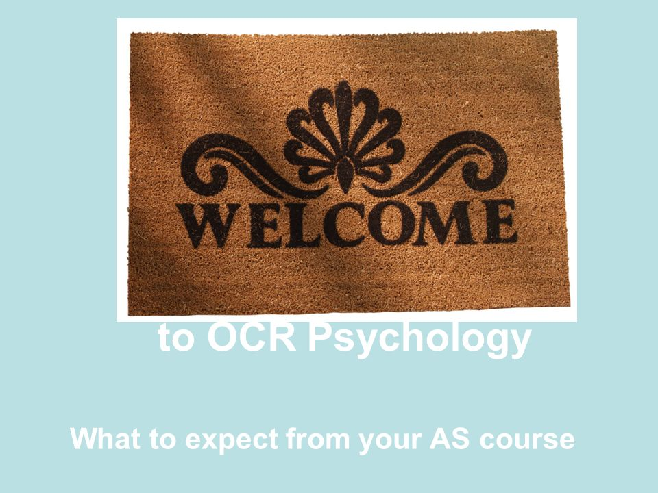 What to expect from your AS course