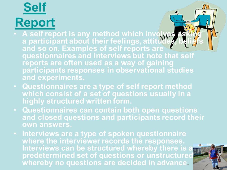 Self Report