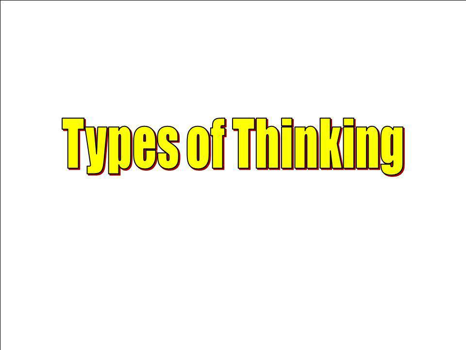 Types of Thinking